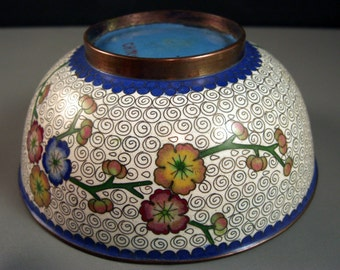 Antique Bronze CLOISONNE Bowl // from Successionary