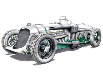 Napier-Railton Special Greeting Card A5 size