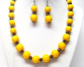 Mustard color etsy for Mustard colored costume jewelry