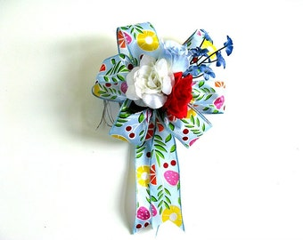 Birthday gift bow, Special Occasion bow, Gift wrap bow, Spring celebration, Summer celebration bow, (HB57)