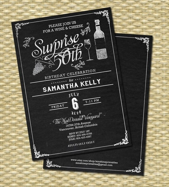 wine bridal shower invitation chalkboard bridal shower wine, Bridal shower invitations