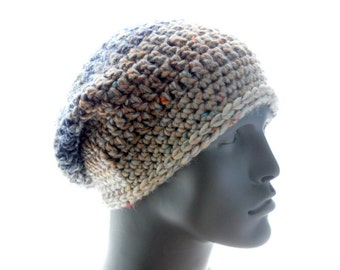 The Shapely Slouchy PDF Crochet Hat Pattern for Women and Men, Instant Download