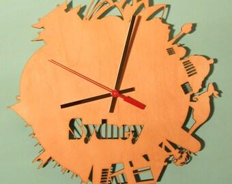 Sydney  wooden wall   clock.
