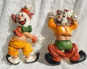 Set of 2 - Homco - Clowns - Funny - 1970 -  FS-374
