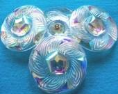 Czech  Glass  Buttons  3 pcs   Gorgeous XL   40 mm      IVA  050