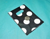 50 3x5 inch Mini Polka Dot Plastic Party Favor bags,  Plastic small merchandise bags, Petite  plastic bags