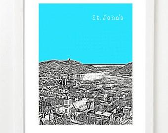 St. John's Newfoundland Skyline Art Print - St. John's City Poster -