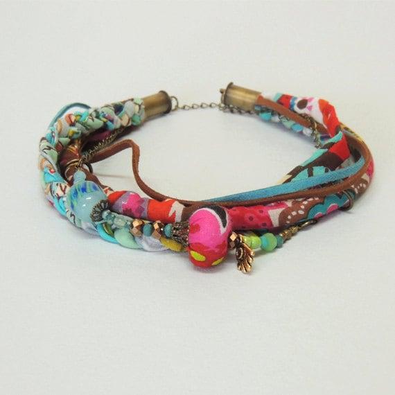 colorful wrap bracelet layered infinity bracelet choker