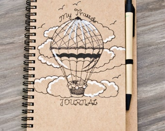 Sketch-pad - My travel Journal DIN A6/blanco and /recycled paper