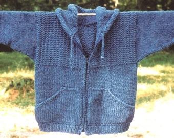 Knitting Pattern-Sweatshirt Jacket, men's women's knit hoodie pattern, super bulky jacket pattern, PDF pattern