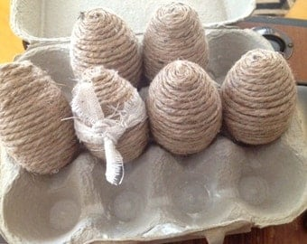 Burlap Decorative Eggs