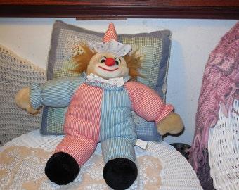 Sugar Loaf Sweet Fun Bright Cheerful Clown, Clown, Stuffed Clown, Vintage Stuffed Toys, :)