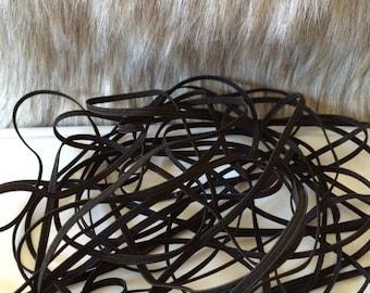 Black Skinny Elastic for Baby Headbands 1/8 inch - 10 yards
