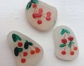 Sea glass: A selection of cherry poppin' and unique handpainted Scottish sea glass. Ideal for crafting and keepsakes