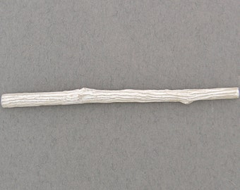 cast twig with flattened back for twig ring shanks solderable component unfinished sterling silver UT037