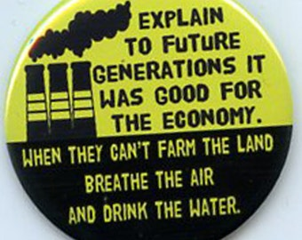 Explain to Future Generations Environment button People's Climate March
