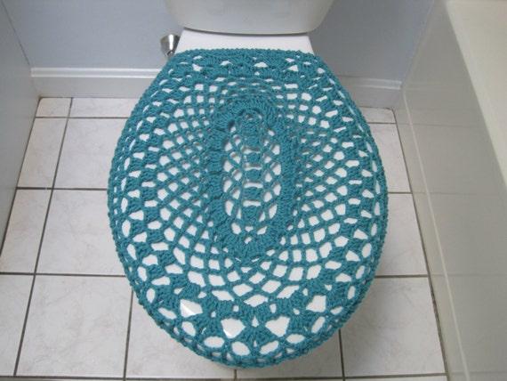 Crochet Toilet Seat Cover Aqua Tsc4a