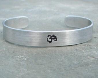 Hand Stamped Om / Ohm Bracelet
