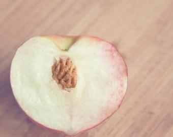 "Fruit Photograph - Summer Peach - Kitchen Decor ""Peach Love"""