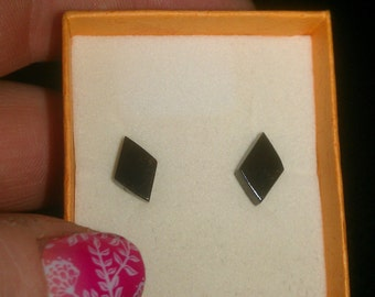 14K Yellow Gold and Onyx Earrings