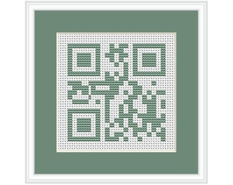 Home Sweet Home QR Code PDF Cross Stitch Chart