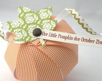 Paper Pumpkin Baby Announcement