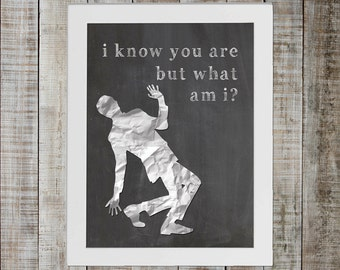 Peewee Herman Show, Peewee's Big Adventure Pop Culture Print - 'i know you are but what am i'