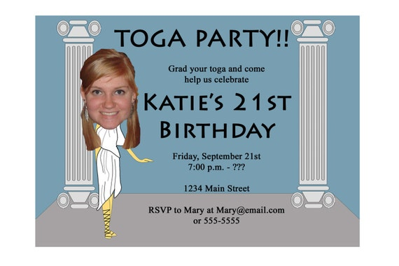 Toga Party Invitation Funny Unique Digital Printable Great – Toga Party Invitations
