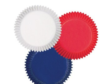 Red, White, and Blue Patriotic Baking Cups