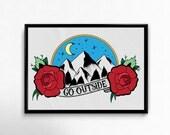 Go Outside Original Art Print