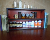 Spice Rack-Large Free Standing Spice Rack in Black and Red