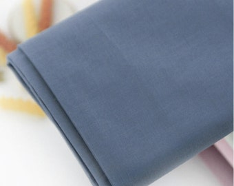Semi-sheer Cotton Lightweight and Thin - Tone Down Blue - By the Yard 45712
