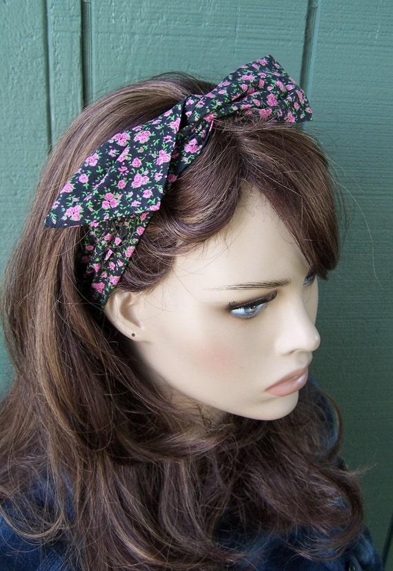 Black Floral Headband Dolly