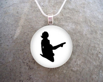 Irish Dance - Over And Down - Glass Pendant Necklace - Celtic Jewelry
