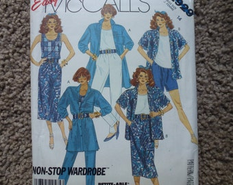 Easy McCall's Pattern 2929 Misses' Shirt  Top  Skirt  Pants and  Shorts Size 14