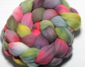 Hand Painted Roving - Happily Ever After - Falkland Wool, 4 ounces.