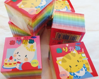 Origami paper - 500 sheets of mini (1.5 inches) Japanese origami paper, assorted solid colors