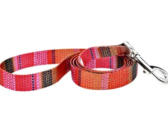 Field of Blooms Fashion Dog Leash - 5ft. Made From Recycled Webbing