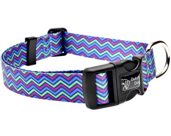 Heightened Hyacinth Fashion Dog Collar - Made From Recycled Webbing