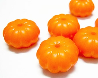 12pc 15x9mm pumpkin Opaque Acrylic Beads-9410