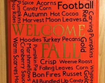 Welcome Fall Subway Sign