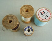 Vintage Wooden Spools of Thread for Sewing, Crafts by Belding Corticelli, Coats & Clark, and American Thread for craft projects
