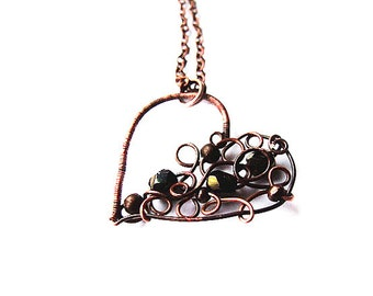 DIY Heart Tutorial, Wire Heart Pendant Tutorial, Romantic Jewelry Tutorial, Jewellery Tutorial 29