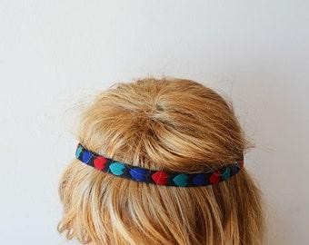 Heart Patterned Headband, Women Accessories, Hair Accessories, Elastic Headband, For Women, For Her, Red, Green, Blue
