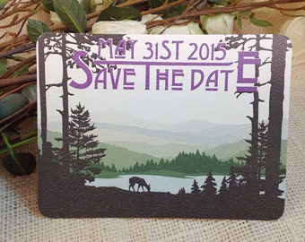 Catskills Mountains Save The Date Craftsman Postcard: Get Started Deposit or DIY Payment