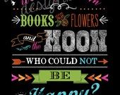 Who Could Not Be Happy - Oscar Wilde Quote - Vertical Print