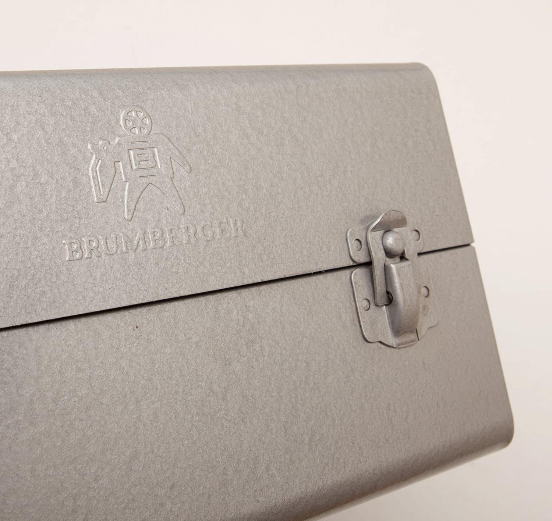 Vintage metal movie reel cases brumberger 1001 holds for Vintage sites like etsy