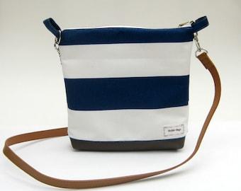 Nautical Crossover Shoulder Bag / Nautical Bag / Messanger bag / Purse / Small Bag / Shoulder bag / Vegan Leather Bag