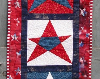 Patriotic Wall Hanging red white and blue Fourth of July Door Decoration