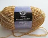 Delightful Loops and Threads Gold Ribbon Nylon Acrylic Metallic  Accessories Bulky Yarn